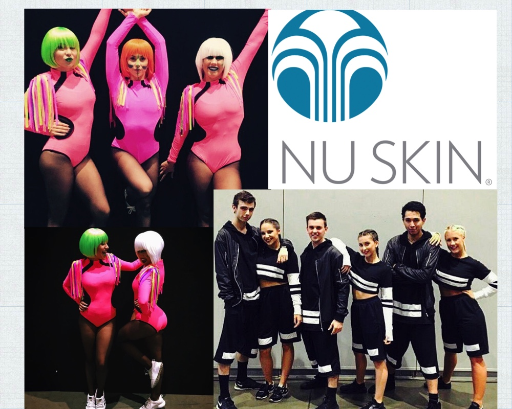 Focus Talent Management dancers performing for NuSkin extravaganza.