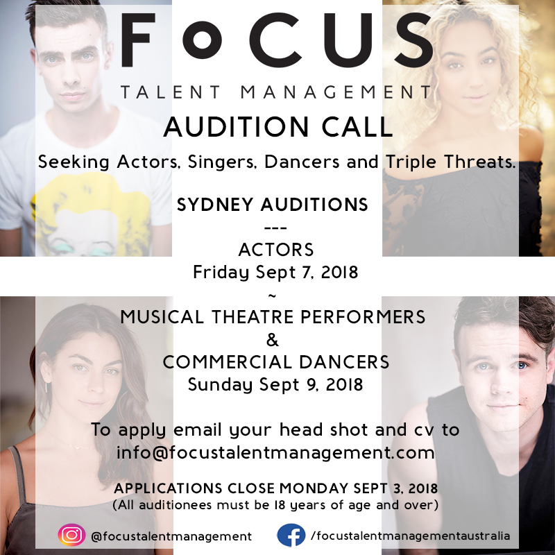 Focus Auditions 2018